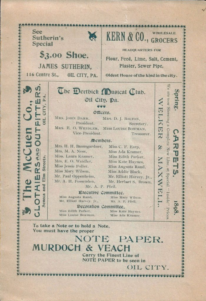 The Derthick Musical Club copy